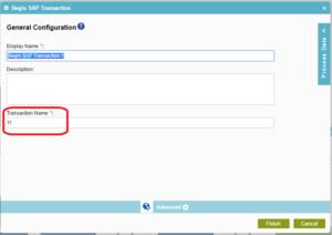 Perform a SAP transaction through process model – AgilePoint